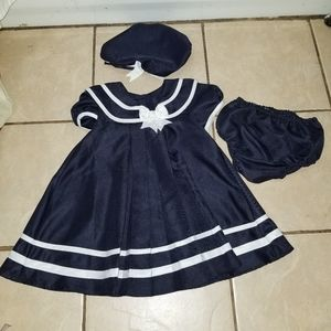 Rare Editions baby navy Nautical dress 24 months